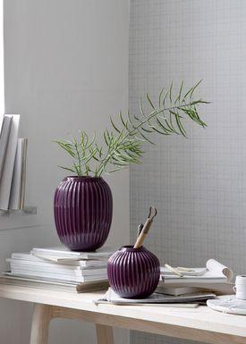 Kähler - Vase - Hammershøi Vase - Blomme - Stor