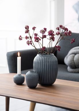 Kähler - Vase - Hammershøi Vase - Mørkegrå - Stor