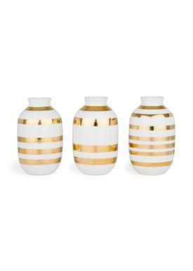 Kähler - Vase - Omaggio Jul Miniature 3-pak  - Guld