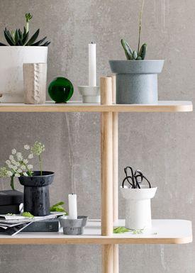 Kähler - Vase - Ombria Urtepotte - Granitgrøn
