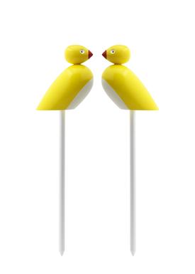 Kay Bojesen - Figure - Sparrows on stick - Yellow/White
