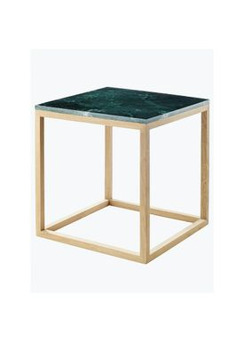 Kristina Dam - Bord - The Cube Table w. Marble Top - Grøn (S)