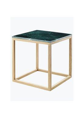 Kristina Dam - Bord - The Cube Table w. Marble Top - Grøn (S)