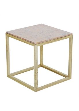 Kristina Dam - Bord - The Cube Table w. Marble Top - Rød (S)