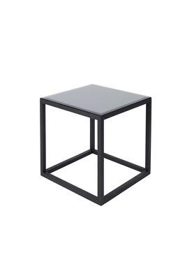 Kristina Dam - Bord - The Cube Table w. Marble Top - Sort/Sort (S)