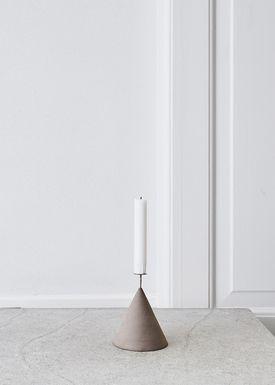 Kristina Dam - Lyseholder - Capital Candlestick - Grå