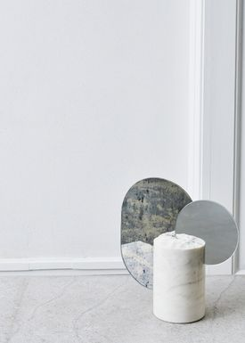 Kristina Dam - Skulptur - Double Moon Sculpture - White Marble
