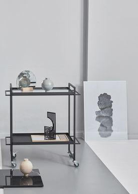 Kristina Dam - Spejl - Halfmoon Mirror - Eg/ Antik spejl