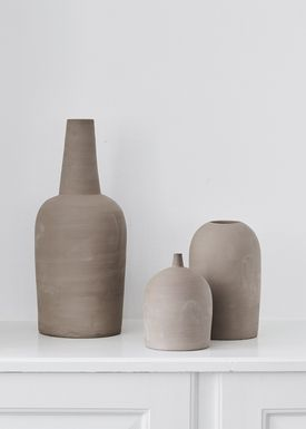 Kristina Dam - Vase - Dome Vases - Grå - Medium