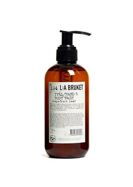 L:A Bruket - Sæbe - Flydende sæbe - No. 194 / Grapefruit Leaf / 250 ml