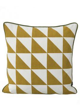 Ferm Living - Pude - Large Geometry Cushion - Karry/Sort