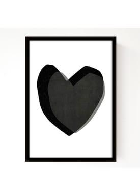 Seventy Tree - Poster - Layered Hearts A3 - Sort