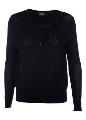 Le Mont Saint Michel - Bluse - Triangle Jacquard Sweater - Sort