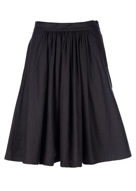 Le Mont Saint Michel - Nederdel - Silk Bourette Skirt - Sort