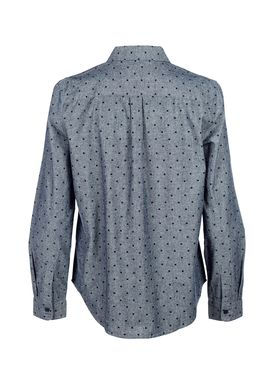 Le Mont Saint Michel - Skjorte - Square Print Shirt - Blue/Navy Square