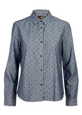 Le Mont Saint Michel - Skjorte - Square Print Shirt - Blue/Navy Square