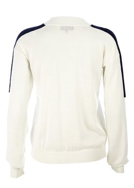 Le Mont Saint Michel - Knit - Crew-neck Contrasting Sweater - Offwhite/Navy