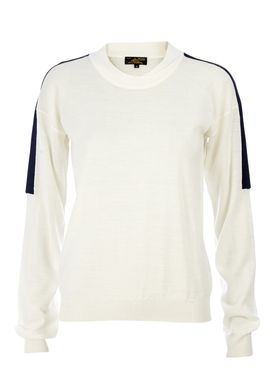 Le Mont Saint Michel - Strik - Crew-neck Contrasting Sweater - Offwhite/Navy