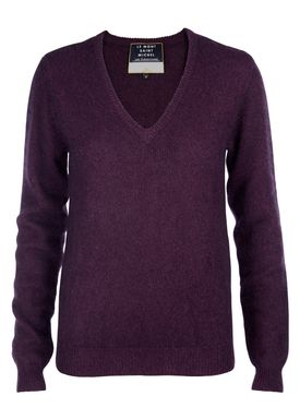 Le Mont Saint Michel - Strik - Elementaire V neck Sweater - Violet