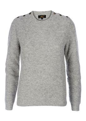 Le Mont Saint Michel - Strik - Half Shetland Sweater - Grey Melange