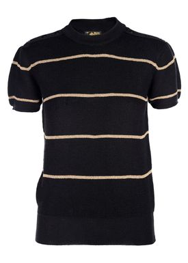 Le Mont Saint Michel - Strik - Lurex Stripe Sweater - Black/Gold