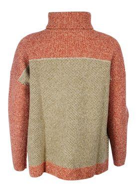 Le Mont Saint Michel - Strik - Pint Point Sweater - Khaki/Orange