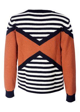 Le Mont Saint Michel - Strik - Stripes Lambswool Sweater - Spice