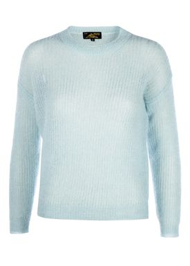 Le Mont Saint Michel - Strik - Superkid Mohair Knit - Mint Sky
