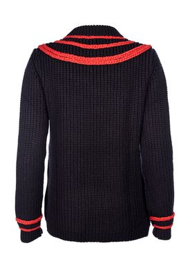 Le Mont Saint Michel - Sweater - Fairiles Sweater - Navy/Red