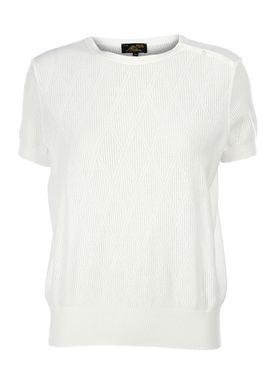 Le Mont Saint Michel - T-shirt - Triangle Jacquard Short Sleeve - Offwhite