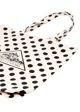Le Mont Saint Michel - Taske - Dotted Tote Bag - Neutral/Sorte Prikker