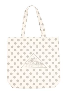 Le Mont Saint Michel - Taske - Dotted Tote Bag - Neutral/Grå Prikker