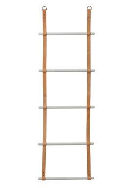 Ferm Living - Hylde - Leather Ladder - Beige/Cognac