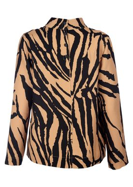 Libertine Libertine - Bluse - Say Blouse - Brown Zebra