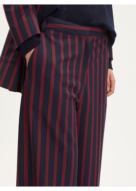 Libertine Libertine - Bukser - Element - Navy/Red Stripe