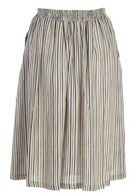 Libertine Libertine - Skirt - Slobo Long - Light Green/Navy Stripes