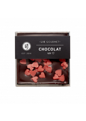 Lie Gourmet - Delikatesser - Lie Gourmet - Mørk chokoladebar med røde hjerter
