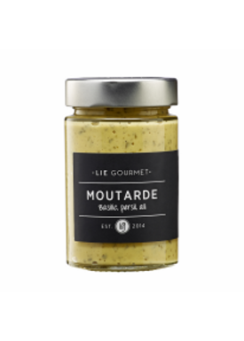 Lie Gourmet - Delikatesser - Mustard - Basilikum, Persille og Hvidløg