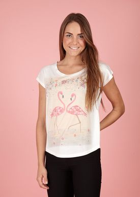 Lily Mcbee - T-shirt - Bliss - Flamingo