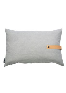 Louise Smærup - Cushion - Canvas - Light grey / Darkgrey  - 80 x 50