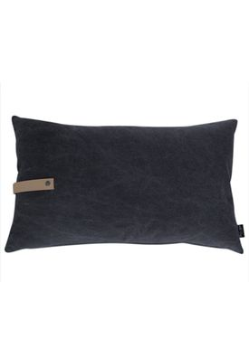 Louise Smærup - Cushion - Canvas - Black - 80 x 50