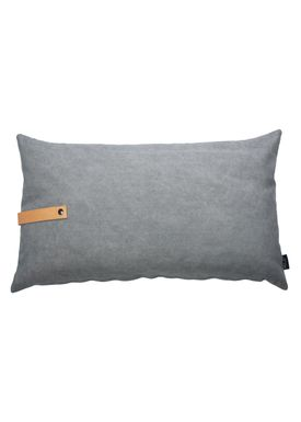 Louise Smærup - Pude - Canvas - Light grey / Darkgrey - 80 x 50