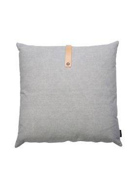 Louise Smærup - Cushion - Canvas - Light grey / Darkgrey  - 65 x 65