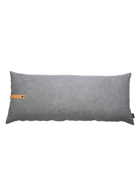 Louise Smærup - Pude - Canvas - Light grey / Darkgrey  - 110 x 50