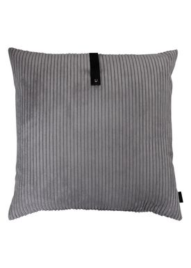 Louise Smærup - Pude - Corderoy - Dark/Light Grey - 65 x 65