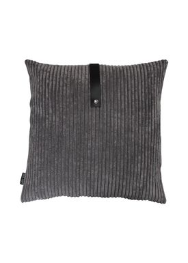 Louise Smærup - Cushion - Corderoy - Dark/Light Grey - 50 x 50