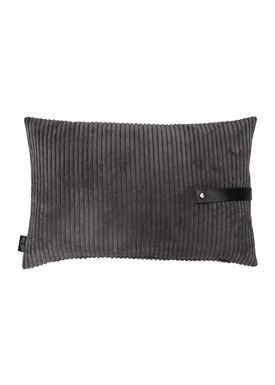Louise Smærup - Cushion - Corderoy - Dark/Light Grey - 60 x 40