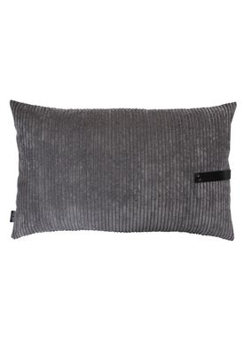 Louise Smærup - Cushion - Corderoy - Dark/Light Grey - 80 x 50