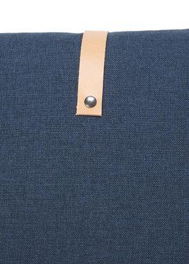 Louise Smærup - Pude - Regular / Twist - Blue Twist - 65 x 65