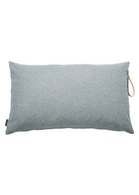 Louise Smærup - Pude - Uld - Light Grey Wool - 80 x 50